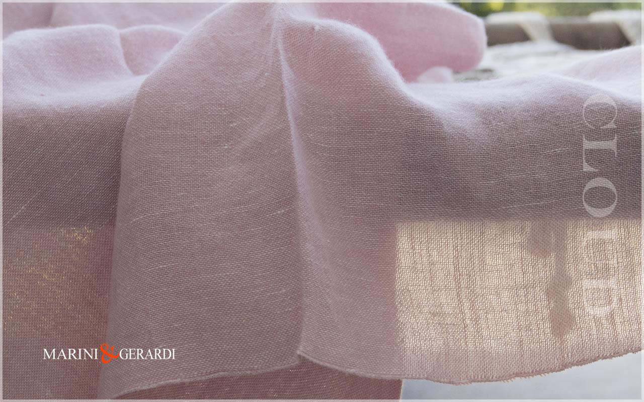 Italian Linen Fabrics Powder Pink For Curtains