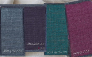 upholstery fabric Blue Grey AA6 Ultraviolet A4 Acid Green 32 Grapes A24