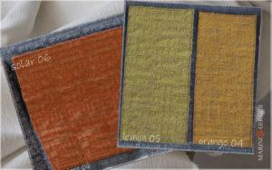 upholstery linen fabric solar 06 lemon 04 orange 05