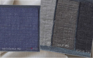 upholstery luxury linen fabric periwinkle A6 powder A8 lead A5 black 26