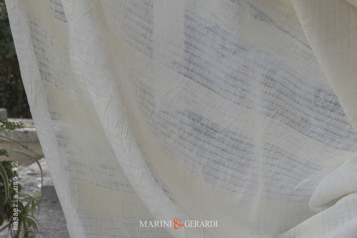 Crisp Lightweight Linen Gauze Fabric Curtains Masseria1 #2