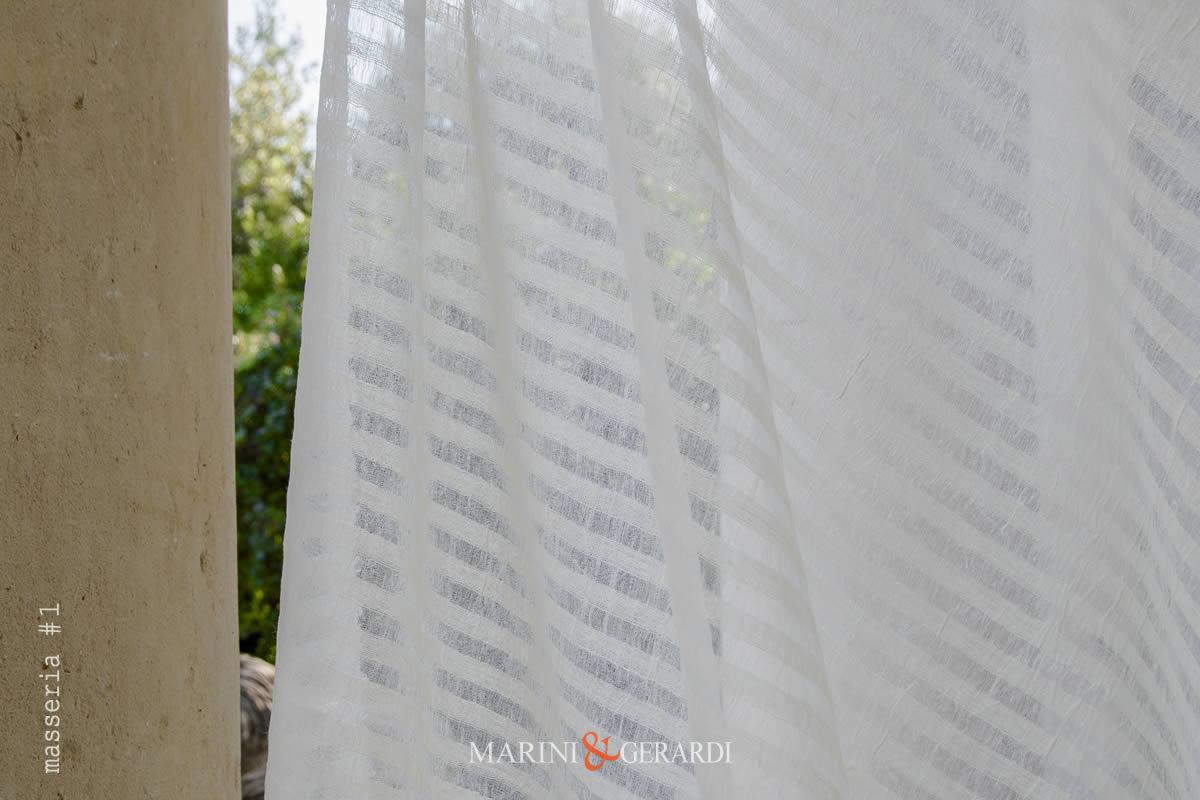 Crisp Lightweight Pure Linen Gauze Fabric Curtains Cream Masseria #1