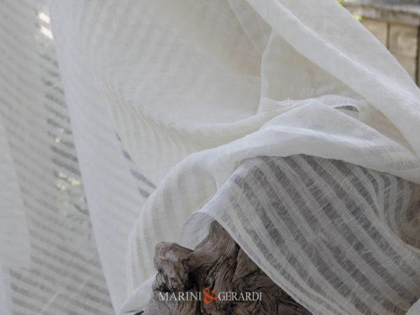 Gauze Fabric Curtains Stripe Masseria #1