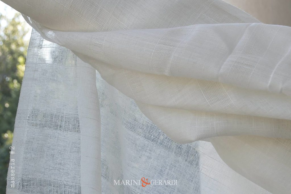 Crisp Lightweight Pure Linen Gauze Fabric For Curtains Duomo 11