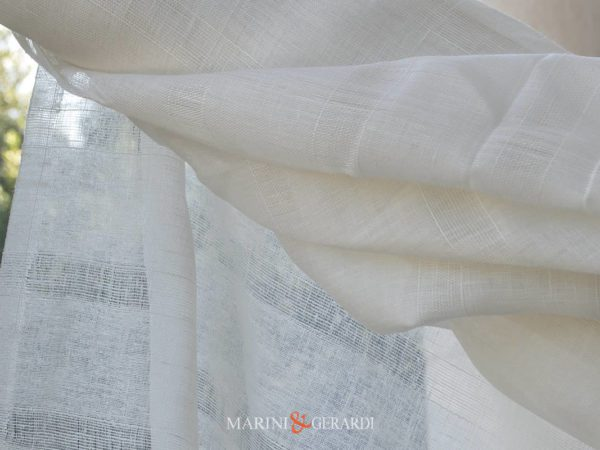 Crisp Lightweight Pure Linen Gauze Fabric For Curtains Duomo 11