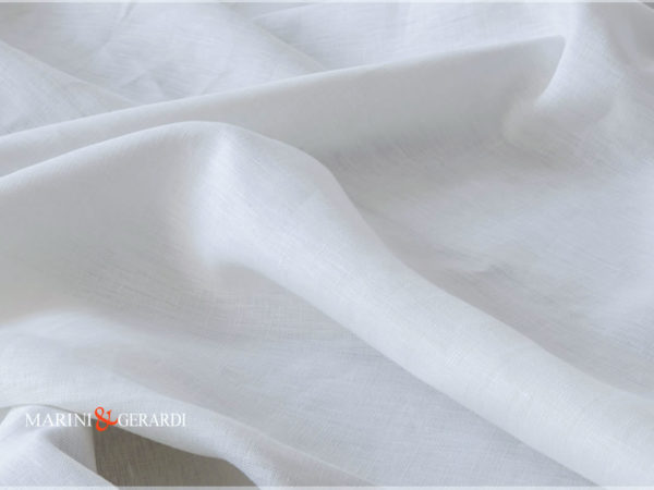Linen Fabrics White Natural Color Barocco 01