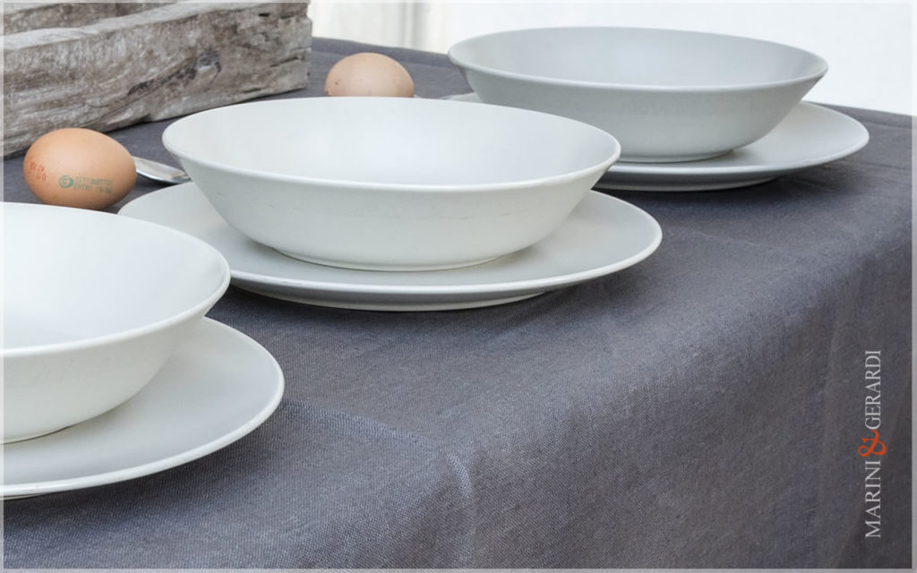 Linen Stain Resistant For Tablecloths Anthracite