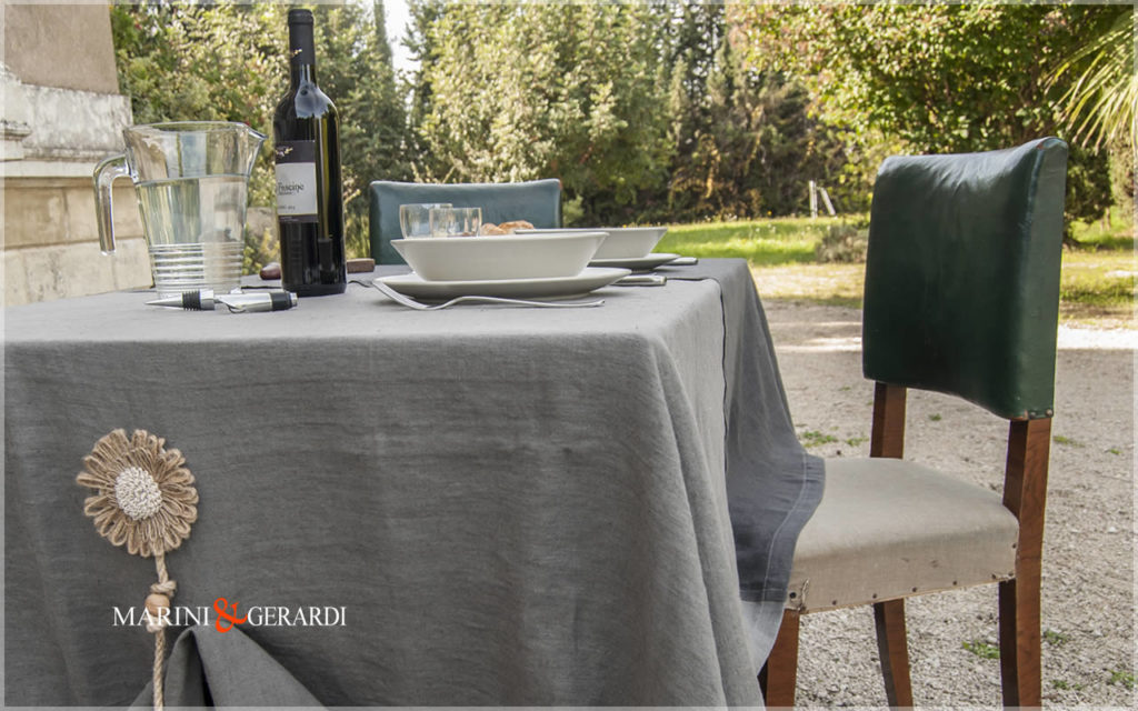 Linen Tablecloth Anthracite Gray Ash Fog Color Amsterdam 3