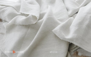 rough linen fabric color white