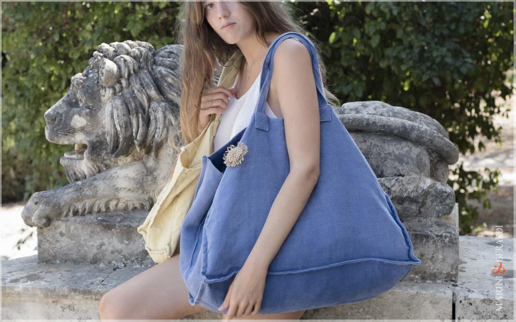 Daily Handbag In Stonewashed Yute Patty Bluette