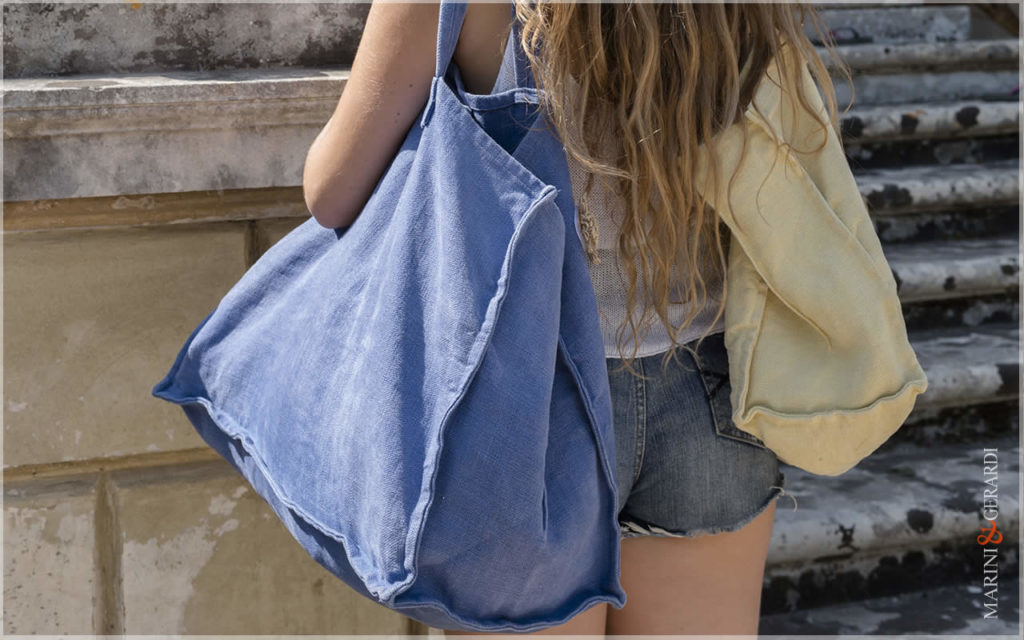 Daily Handbag In Stonewashed Yute Patty Special Design