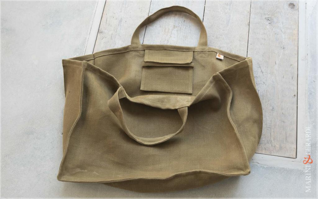 Daily Handbag Yute Canvas Patty Green