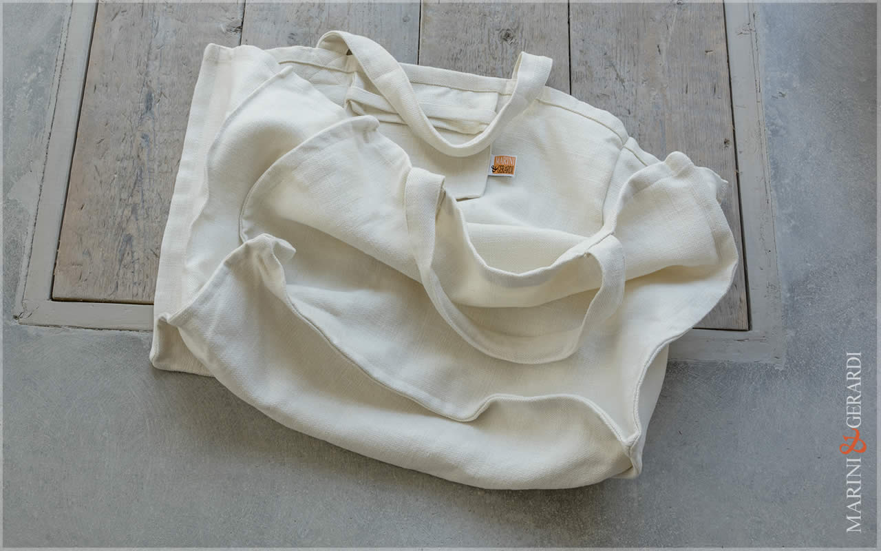 Daily Handbag Yute Canvas Patty White
