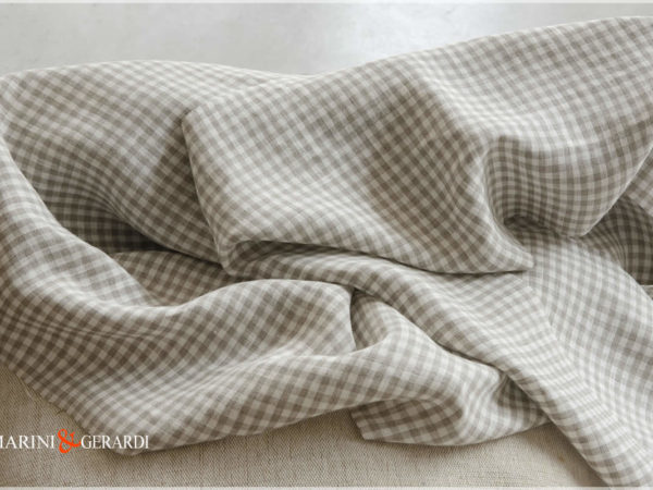 Italian Checked Linen For Curtains And Tablecloths