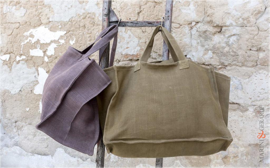 Italian Fashion Handbag Stonewashed Yute Patty Green Brown