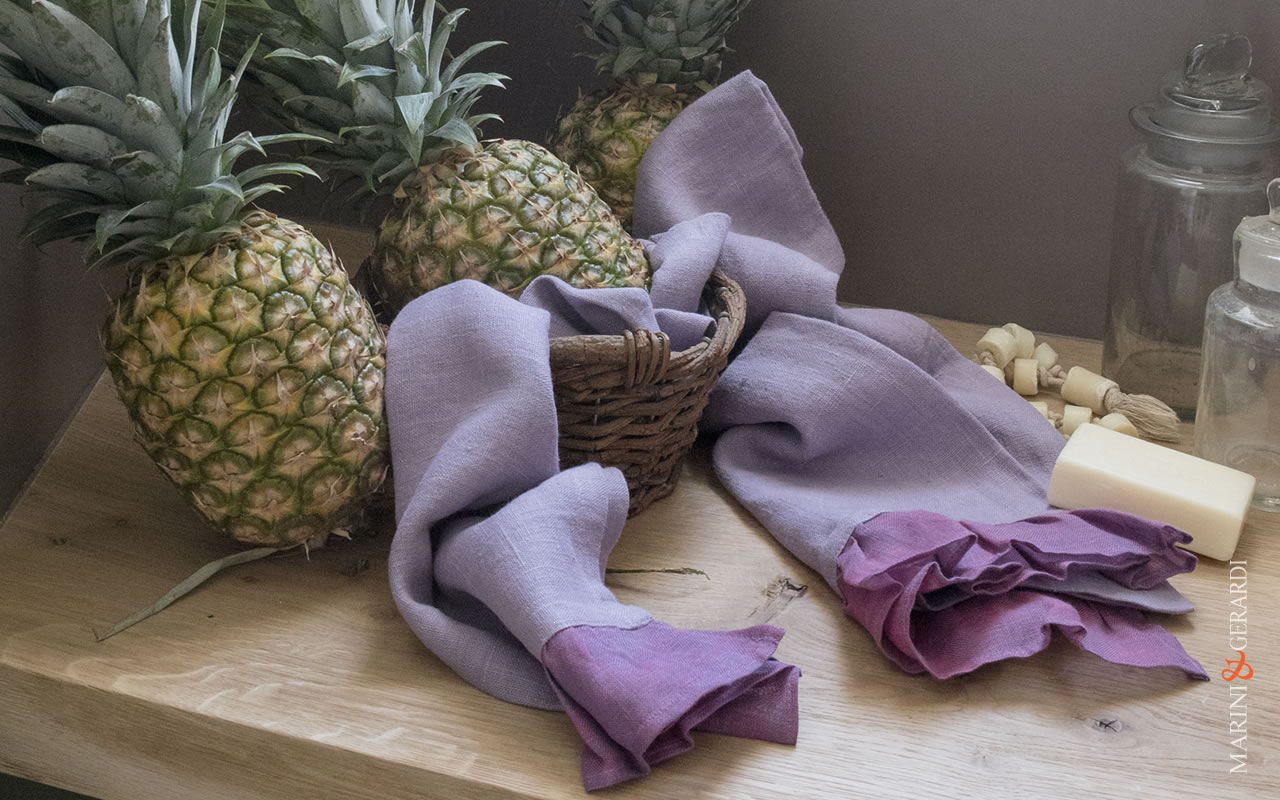 Luxusury Bath Linen Towel Set Wisteria Color