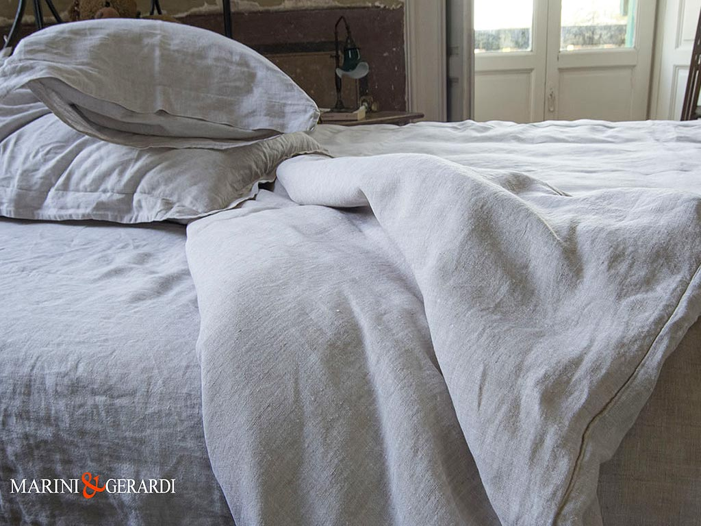 White Pure Linen Duvet Cover Basic Set