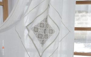 Pattern linen on linen- Linen Curtains