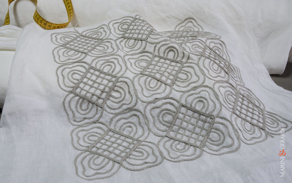 Embroidered Pattern - Linen Curtains