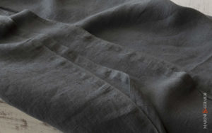 Rough Linen Fabric Anthracite