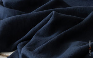 Soft Linen Fabric Blue Denim