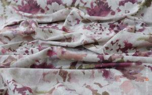 tapestry fabrics fuchsia sea flowers
