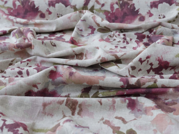 tapestry fabrics fuchsia sea flowers