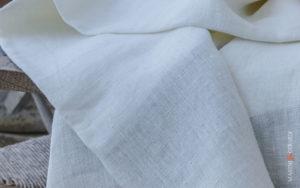 Natural White Naked Rough Italian Linen