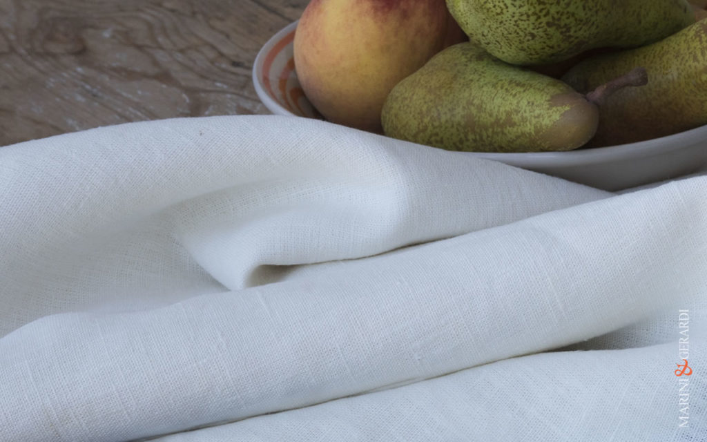 """natural white naked rough pure linen fabric """"NAKED & ROUGH"""""""