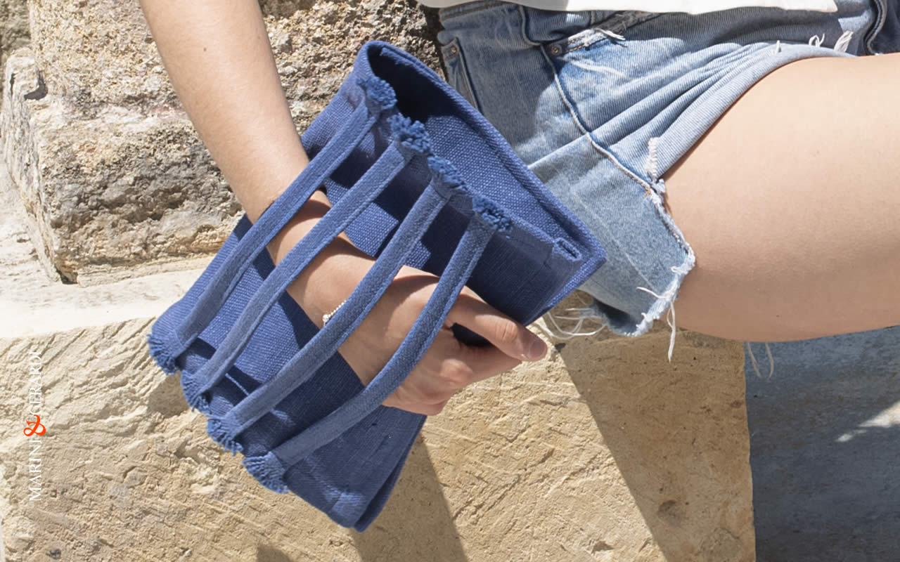 Clutch Bags blue color design