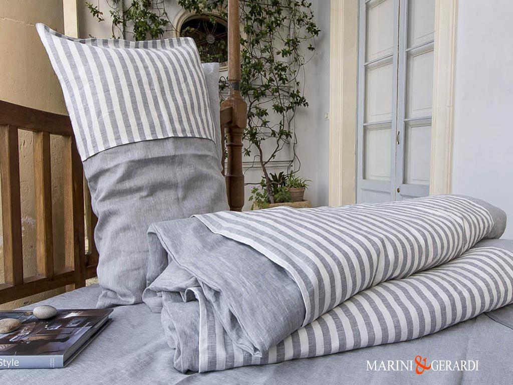Bed Linen Small Stripe For Duvet Cover Volcanic Ash Pentagram
