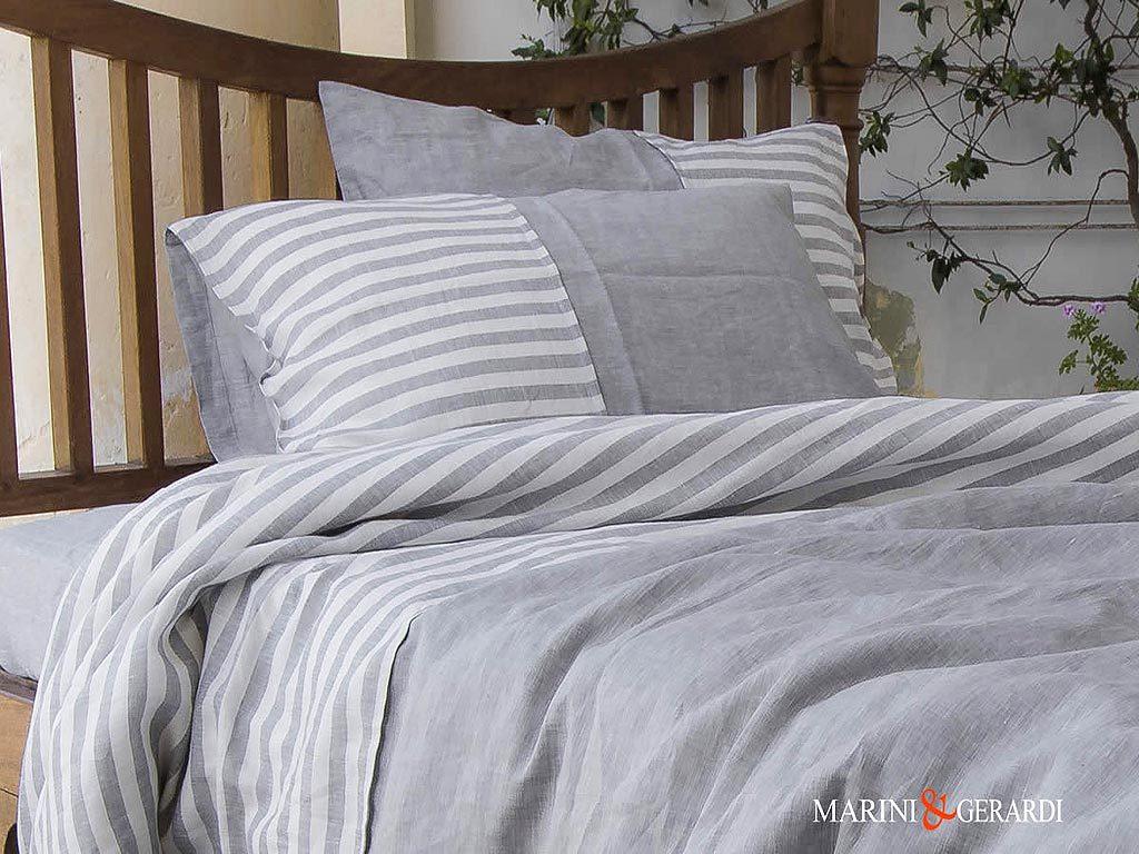 Bed Linen Small Stripe Volcanic Ash Sheet Set Pentagram
