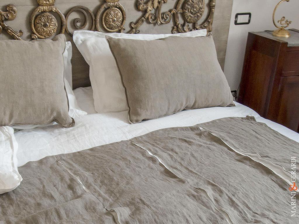 Confort Bed Linen Sheet Duvet Cover White Cuts Stripe Endless 1