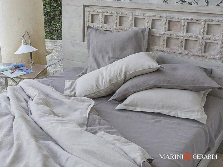 Italian Bed Linen Duvet Cover Duchess Turledove
