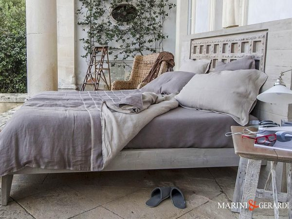 "Handmade Linen Duvet Cover ""The Duchess"""