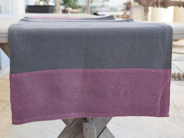 linen-table-runner-grey-wallflowers-border-Dublino