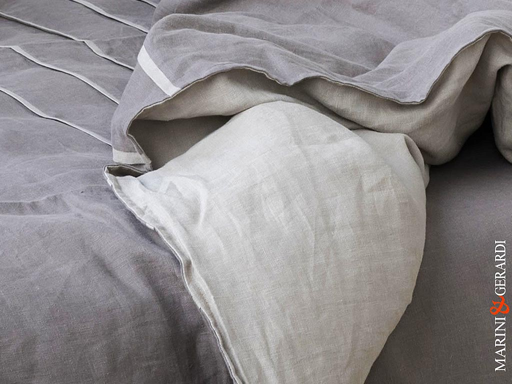 Pure Linen Fabrics For Duvet Cover Blackened Pearl Turledove