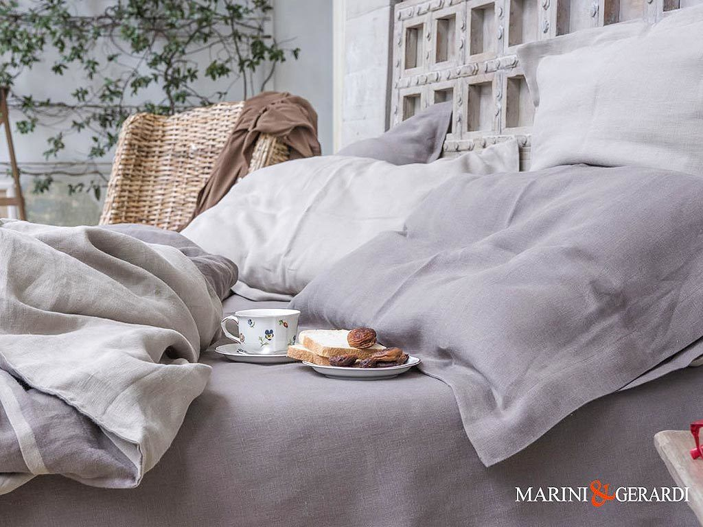 Soft Linen Duvet Cover Sheet Duchess Blackened