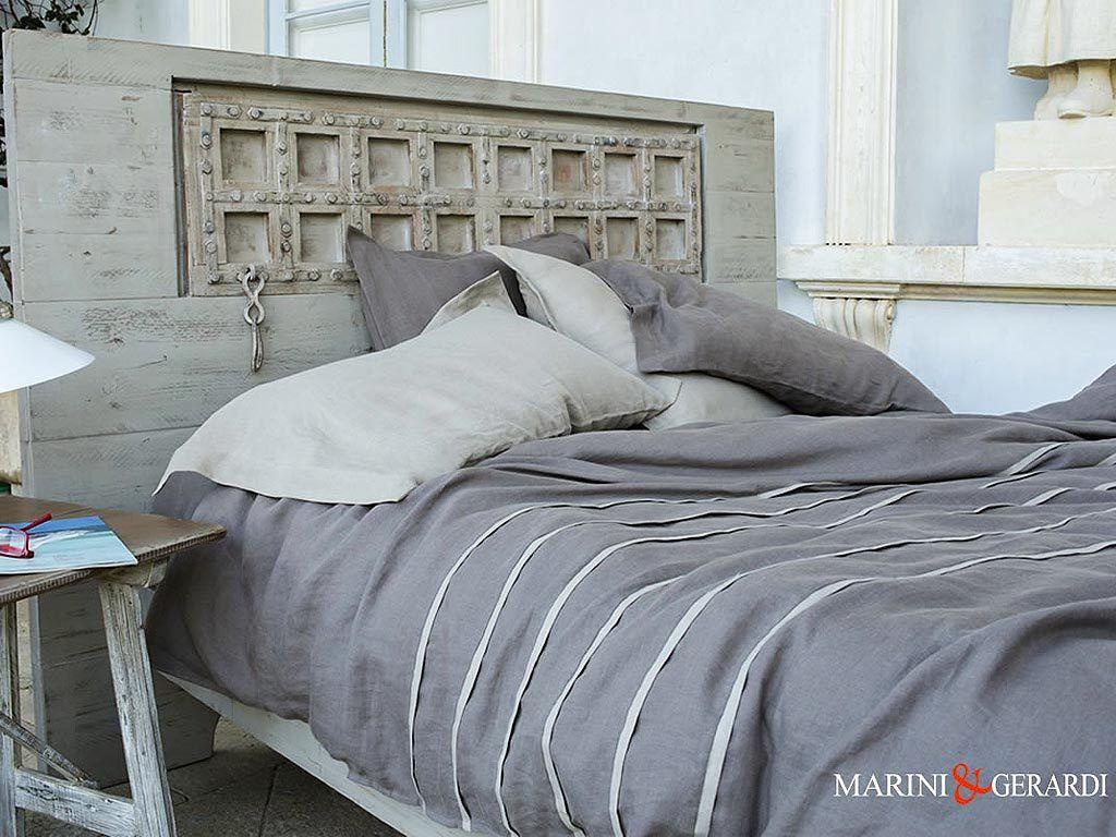 Soft Linen Italian Sheets Duvet Cover Duchess Blackened