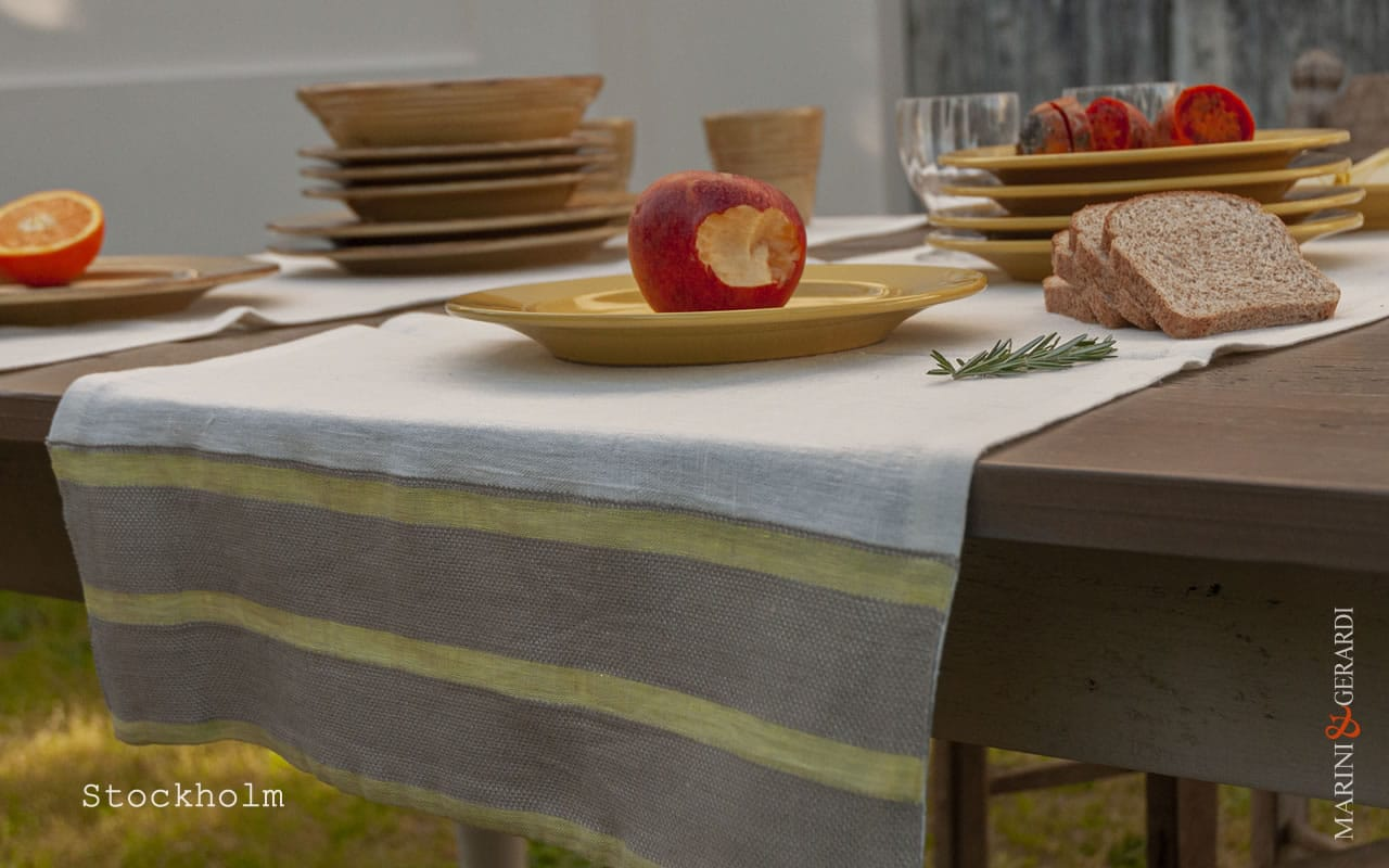 italian-linen-table-runner-placemates-yellow-stockholm