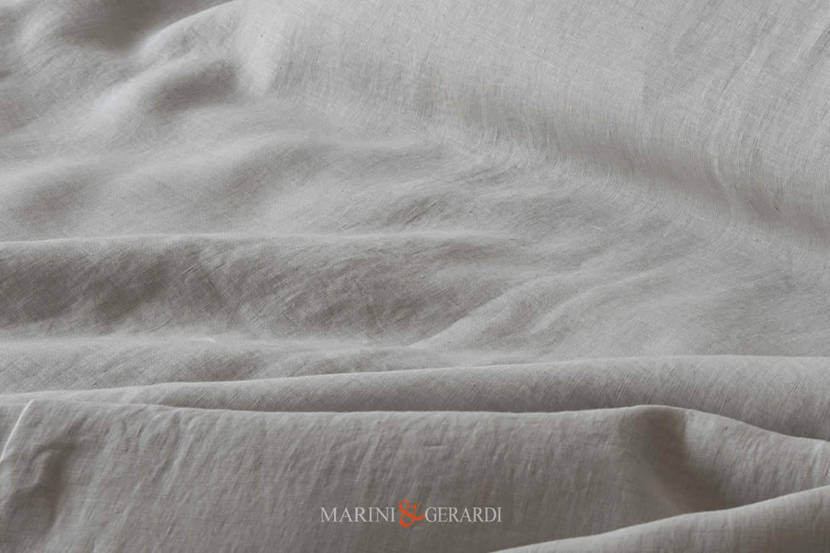 Linen Stone Washed Pearl Color Italian Quality