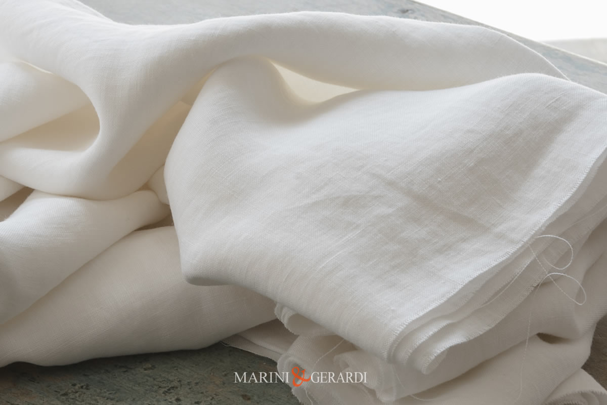Lord Byron Stone Washed Linen Color White Natural